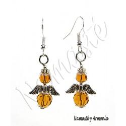Aretes Ángel de la Guarda - 2 Cristales Amarillos