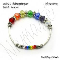 Pulsera 7 chakras con 7 Cristales Rondelle. 7SWR2TRE013