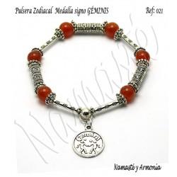 Pulsera Zodiacal Signo GÉMINIS. Medalla Zodiacal. Z021GÉMINIS