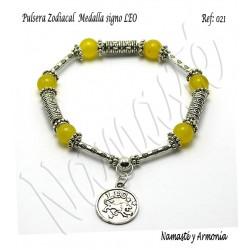 Pulsera Zodiacal Signo LEO. Medalla Zodiacal. Z021LEO