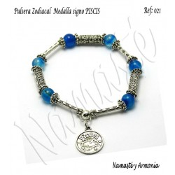 Pulsera Zodiacal Signo PISCIS. Medalla Zodiacal. Z021PISCIS