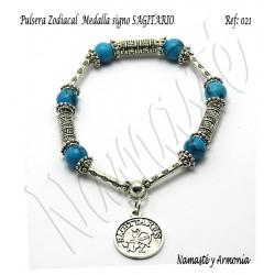 Pulsera Zodiacal Signo SAGITARIO. Medalla Zodiacal. Z021SAGITARIO