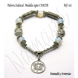 Pulsera Zodiacal Signo CANCER. Medalla Zodiacal. Z022CANCER