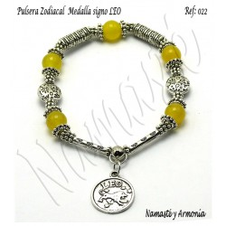 Pulsera Zodiacal Signo LEO. Medalla Zodiacal. Z022LEO