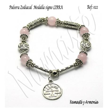 Pulsera Zodiacal Signo LIBRA. Medalla Zodiacal. Z022LIBRA